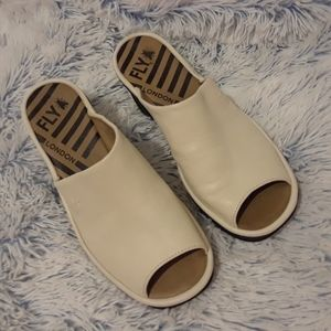 FLY LONDON pre-loved LEATHER Wedge slides